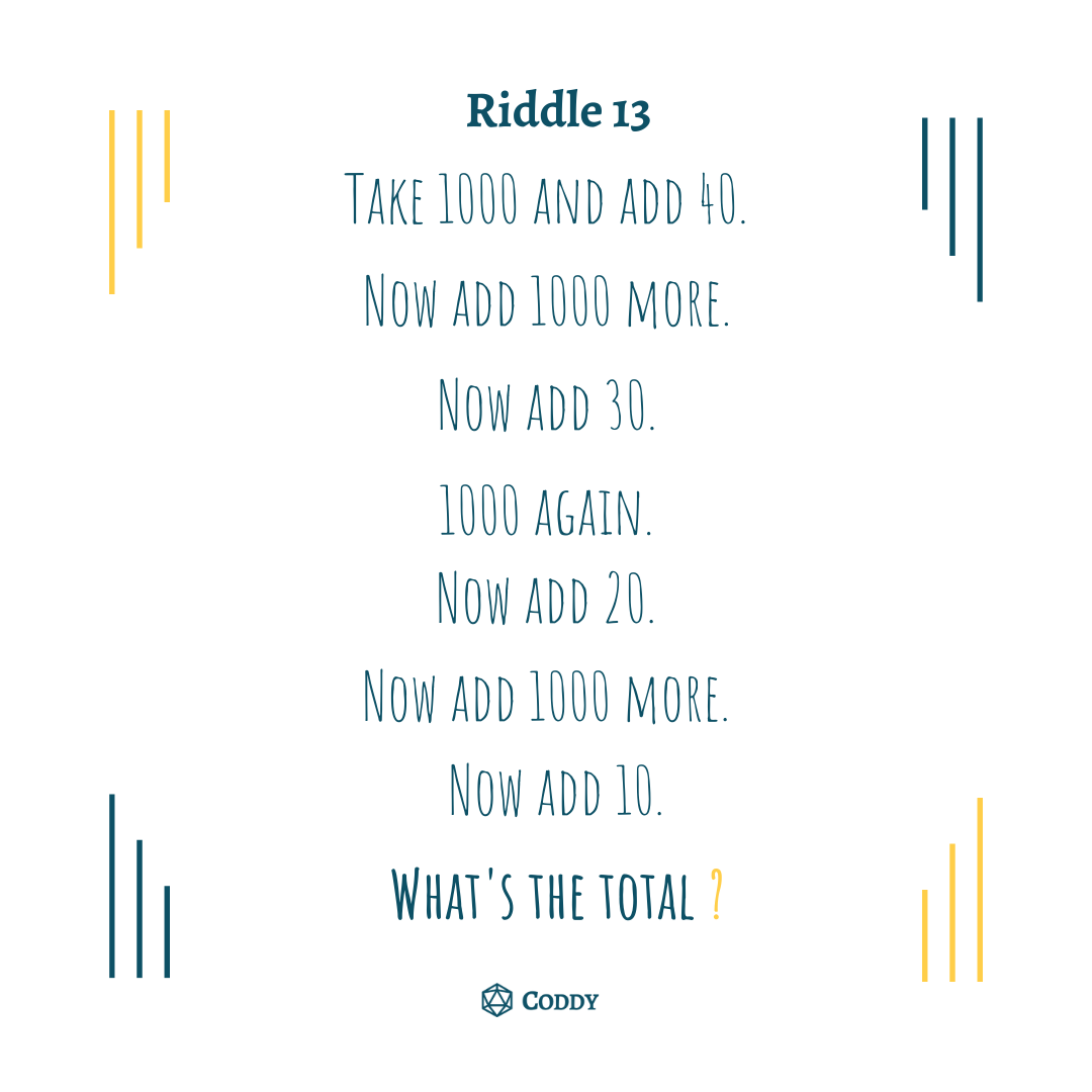 Riddle 13