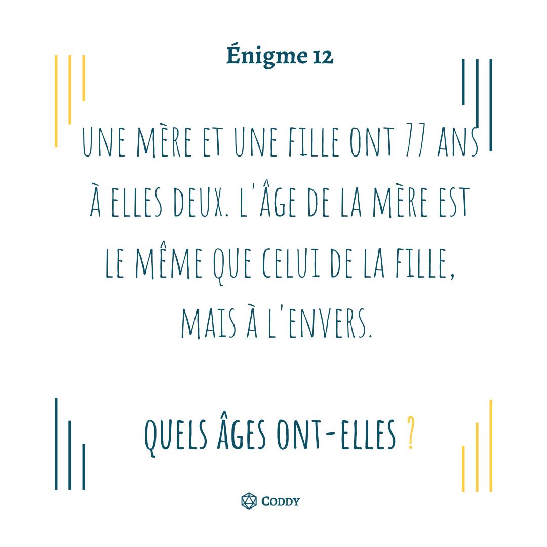 Énigme 12