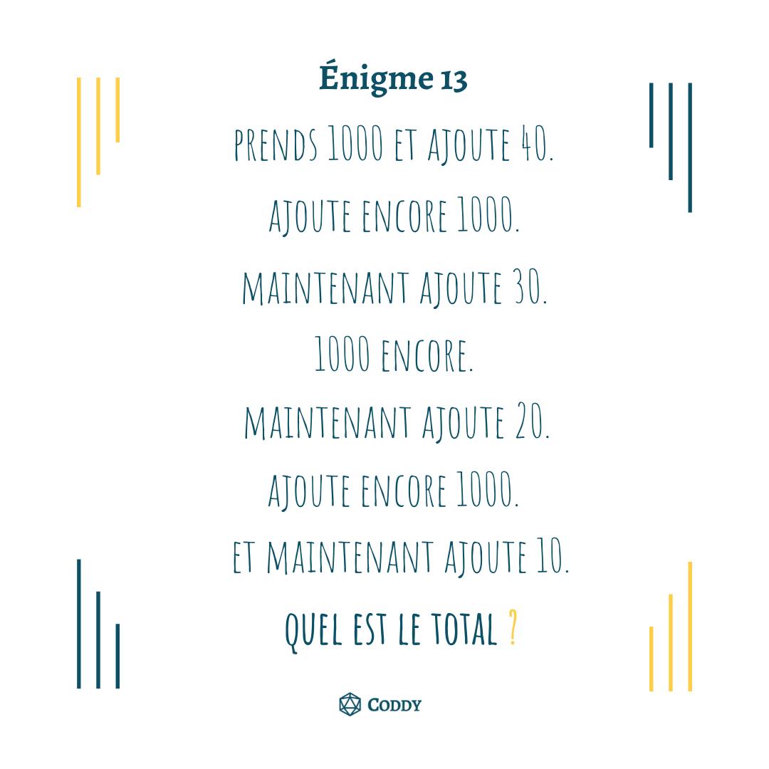 Énigme 13
