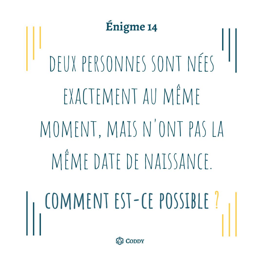 Énigme 14
