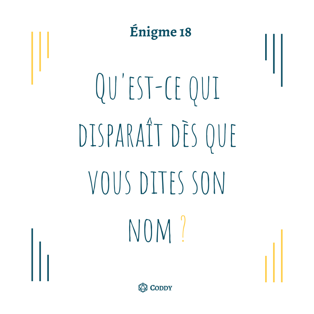 Énigme 18 - Disparition