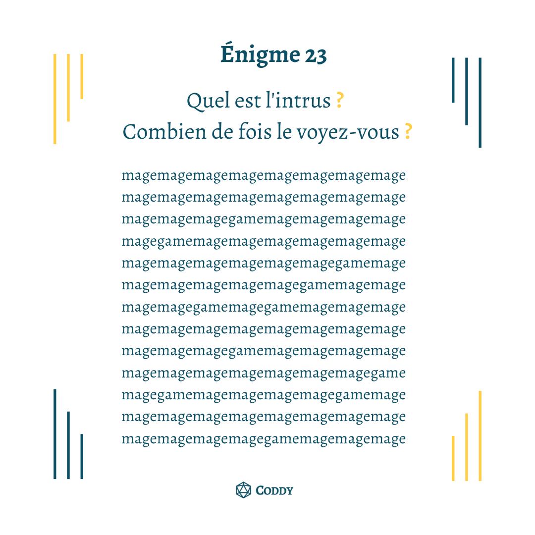 Énigme 23