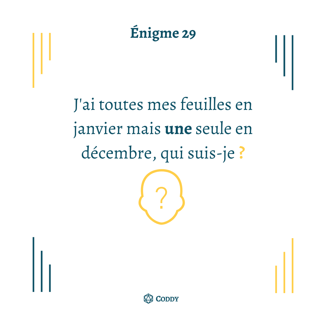 Énigme 29 - Feuilles
