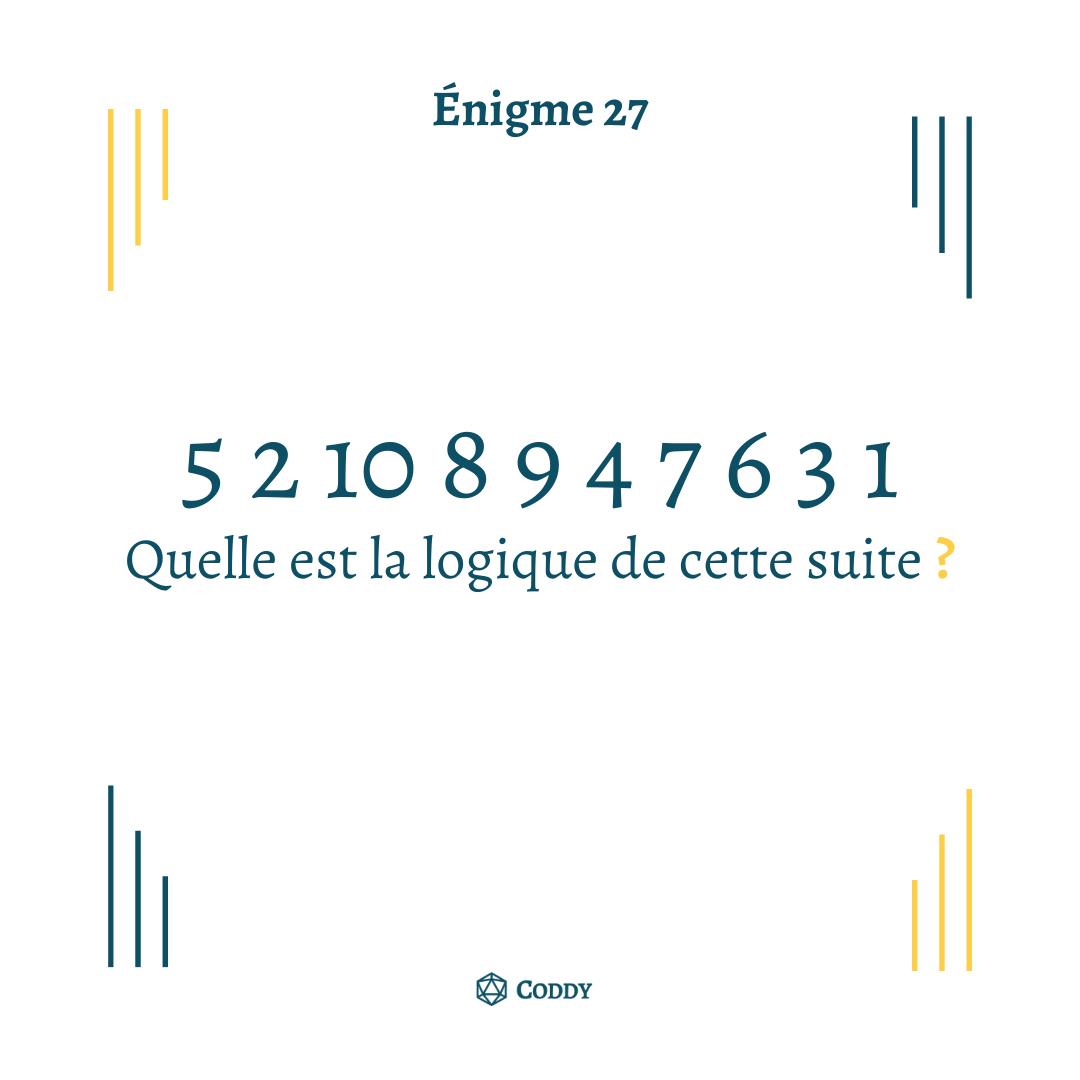 Énigme 27
