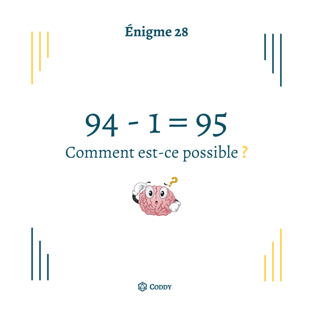 Énigme 28 - Calcul impossible